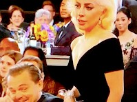 Lady Gaga Bumps Leonardo Dicaprio at the Golden Globes!