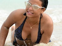 Christina Milian on All Four in a Bikini!