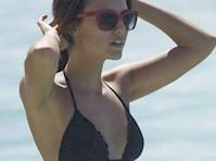 Lucy Watson in a Black Bikini!
