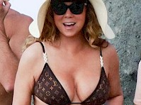 Mariah Carey in a Bikini Top!
