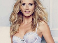 Heidi Klum Modeled Lingerie!