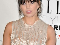 Daisy Lowe in a Semi-Sheer Dress!