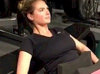 Kate Upton Working Out!
