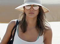 Jessica Alba Disappoints at the Beach (Still Hot Though!)
