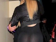 Khloe Kardashian in a Catsuit! See Through!