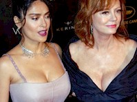 Battle of the Cleavage in <em>Cannes</em>! Susan Sarandon VS Salma Hayek!