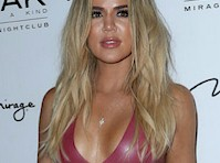 Khloe Kardashian in a Latex Dress!