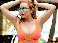 Lindsay Lohan Bikini Candids!