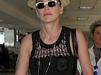Sharon Stone See Through at the Airport!