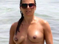 Zoe Hardman Topless at the Beach!