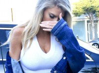 Charlotte McKinney is Shy in a Hot Outfit!