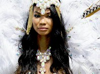 Chanel Iman in a Carnival Costume!