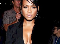 Christina Milian Cleavage at a Fashion Show!