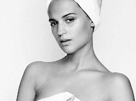 Alicia Vikander is Hot in a Towel!