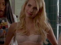 Emma Roberts in Bra and Panties on <em>Scream Queens!</em>