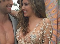 Ryan Newman Nip Slip in a See Through Dress!