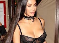 Kim Kardashian in a Sorta Sheer Corset!
