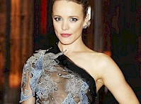 Rachel McAdams in a Semi-Sheer Dress for <em>Doctor Strange!</em>