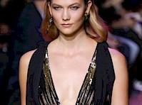 Karlie Kloss Nipple Peek on the Fashion Runway