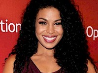 Jordin Sparks in a Tight Maroon Dress!