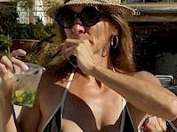Drink at the Beach Nip Slip!