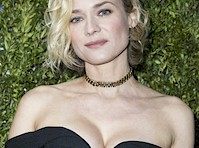Diane Kruger Cleavage at <em>Paris Fashion Week!</em>