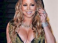 <em>Mariah Carey</em> Cleavage at <em>Vanity Fair Oscar Party!</em>