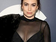 Sophie Simmons See Through to Bra!