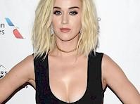 <em>Katy Perry</em> Cleavage at a <em>Grammy</em> Party!