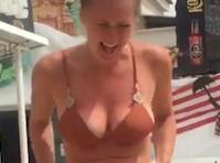 Honestly don't Her bikini bottoms