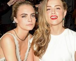 Amber Heard and Cara Delevingne